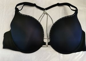 La Senza Beyond Sexy Black Rhinestone Bra C38